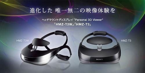 ヘッドマウントディスプレイ HMZ-T3W/T3