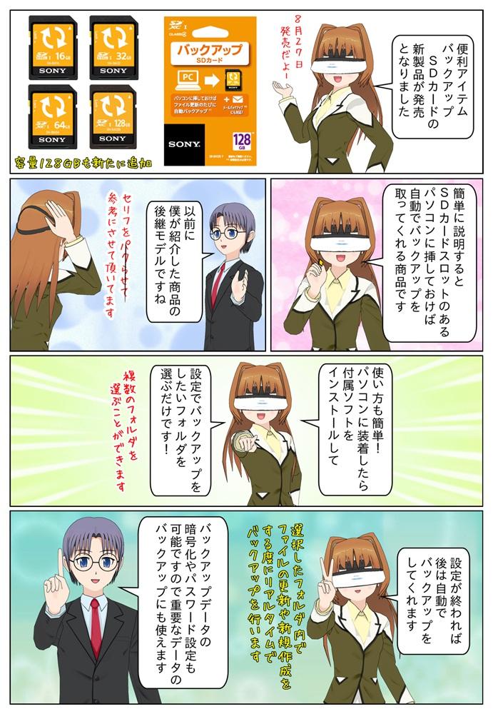 ソニー バックアップSDカードの新製品SN-BA128 F/SN-BA64 F/SN-BA32 F/SN-BA16 F が発売