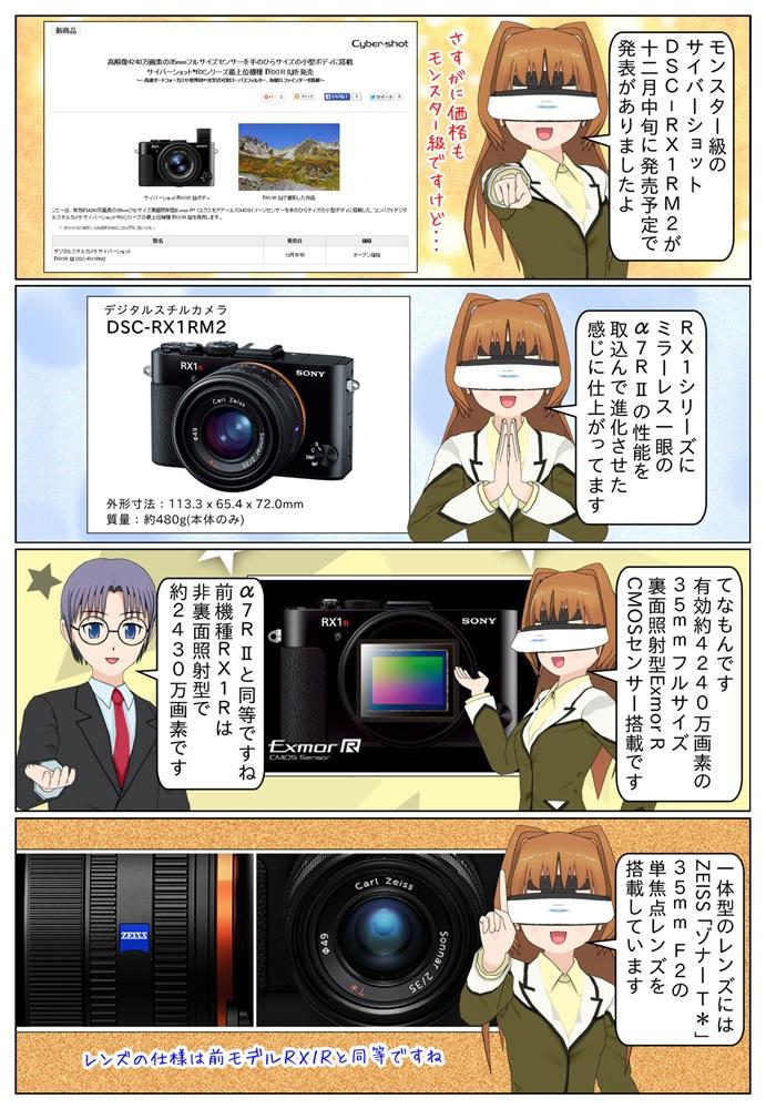 ソニー サイバーショット 『RX1R II』DSC-RX1RM2 が発売、DSC-RX1Rとの違いを交えてレビュー。有効約4240万画素の35mmフルサイズ裏面照射型Exmor R CMOSイメージセンサーやZEISS ゾナーT* 35mm F2の大口径単焦点レンズを搭載。