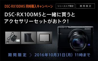 「DSC-RX100M5」同時購入キャンペーン