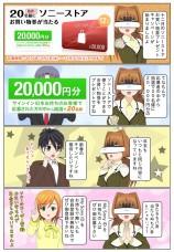 抽選でソニーストアお買い物券2万円分が当たる!12月のプレゼントキャンペーン