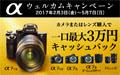カメラグランプリ2016大賞受賞記念第II弾 αウェルカムキャンペーン