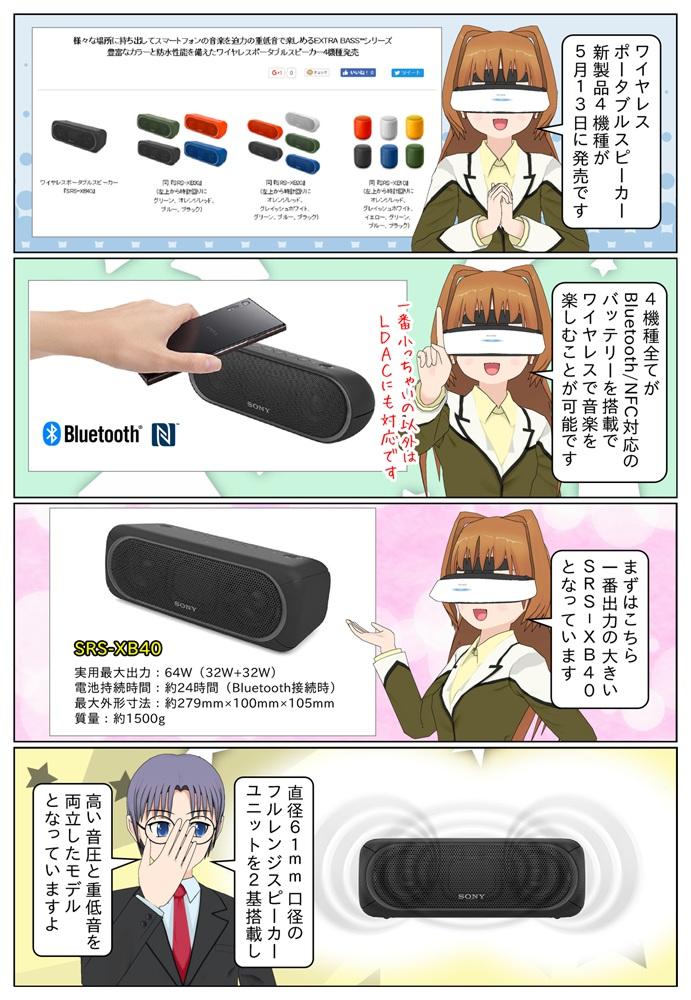 ソニーのワイヤレスポータブルスピーカーの新製品4機種が2017年5月13日(土)に発売。Bluetooth/NFC対応のバッテリー搭載でワイヤレスで音楽を楽しめます。