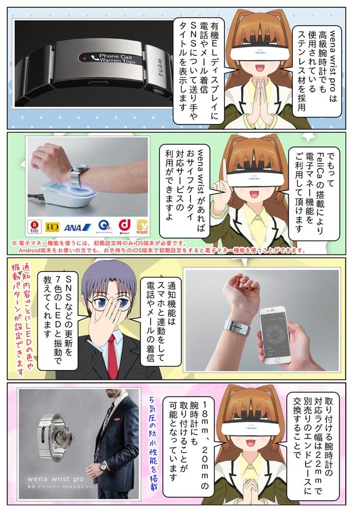 ソニーの wena wrist pro はステンレス材を採用、有機ELディスプレイを搭載。Felicaの搭載により電子マネー機能も利用が可能です。