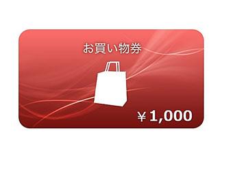 ソニーストアお買い物券(1,000円分)