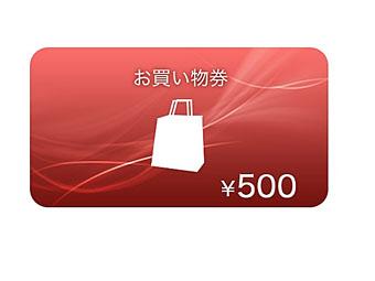 ソニーストアお買い物券(500円分)