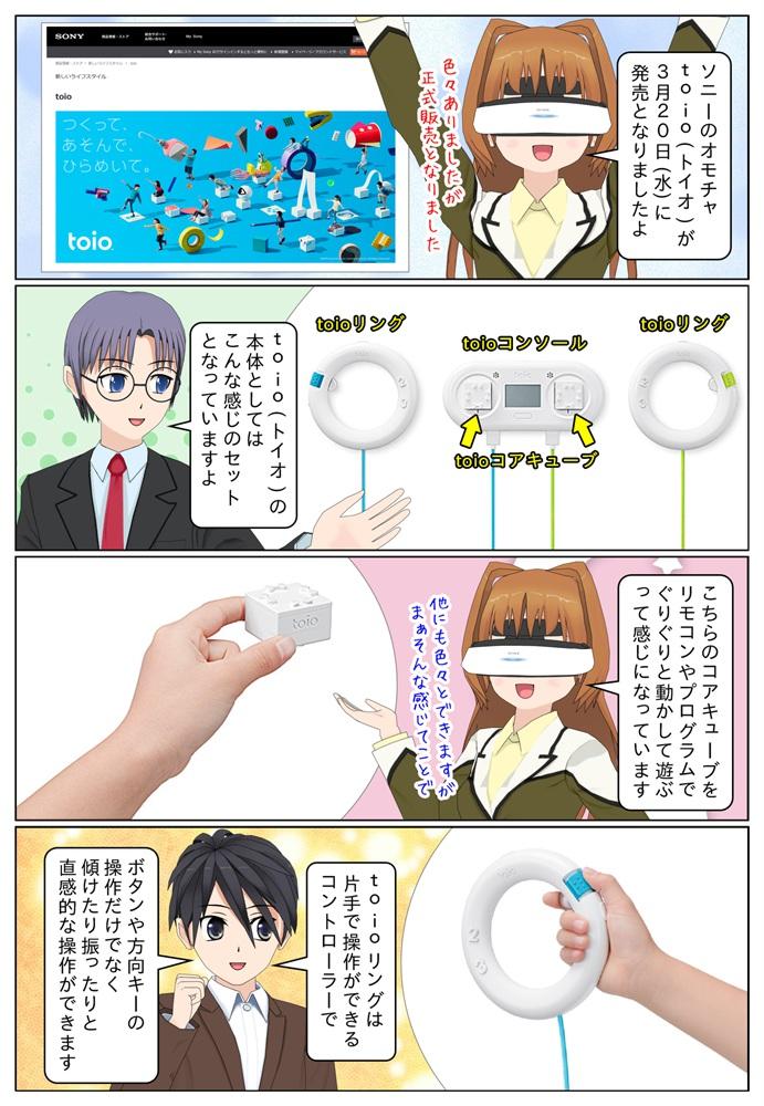 ソニーのオモチャ toio(トイオ)が2019年3月20日に正式に発売。toioコアキューブをぐりぐり動かしたりして遊べます。