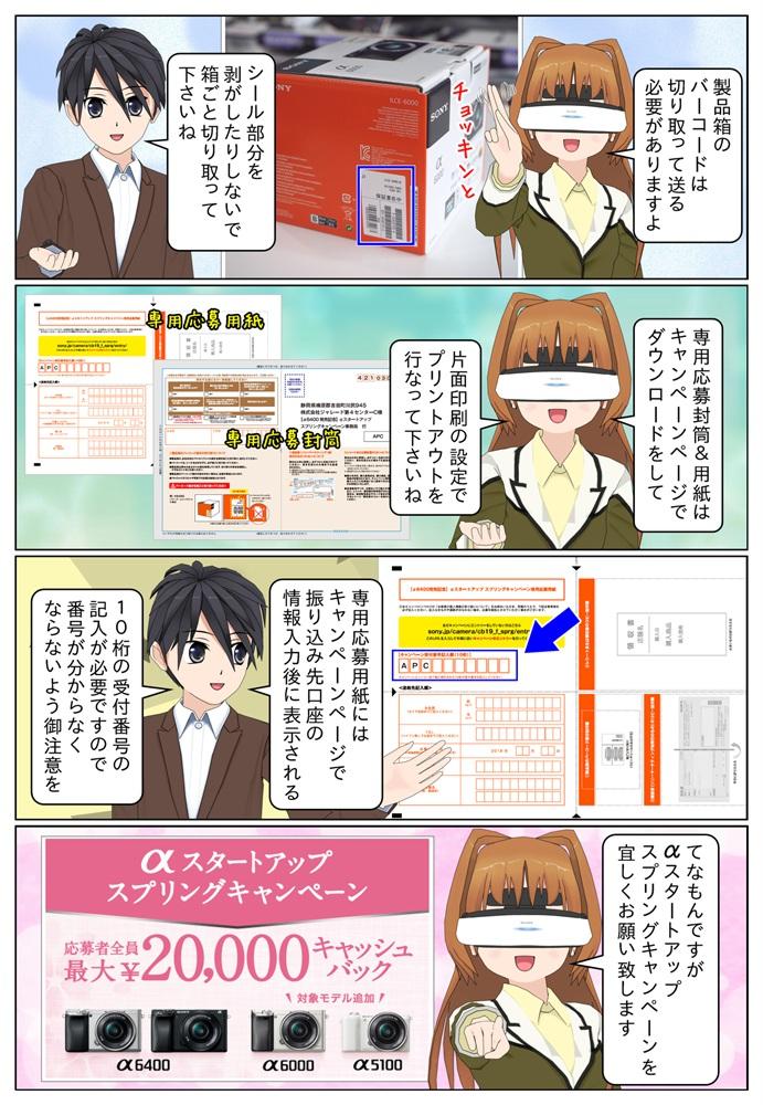 最大2万円のキャッシュバックとなるαスタートアップキャンペーンの応募封筒はソニー ファミリーαキャンペーン公式ページでダウンロードが可能となっています。