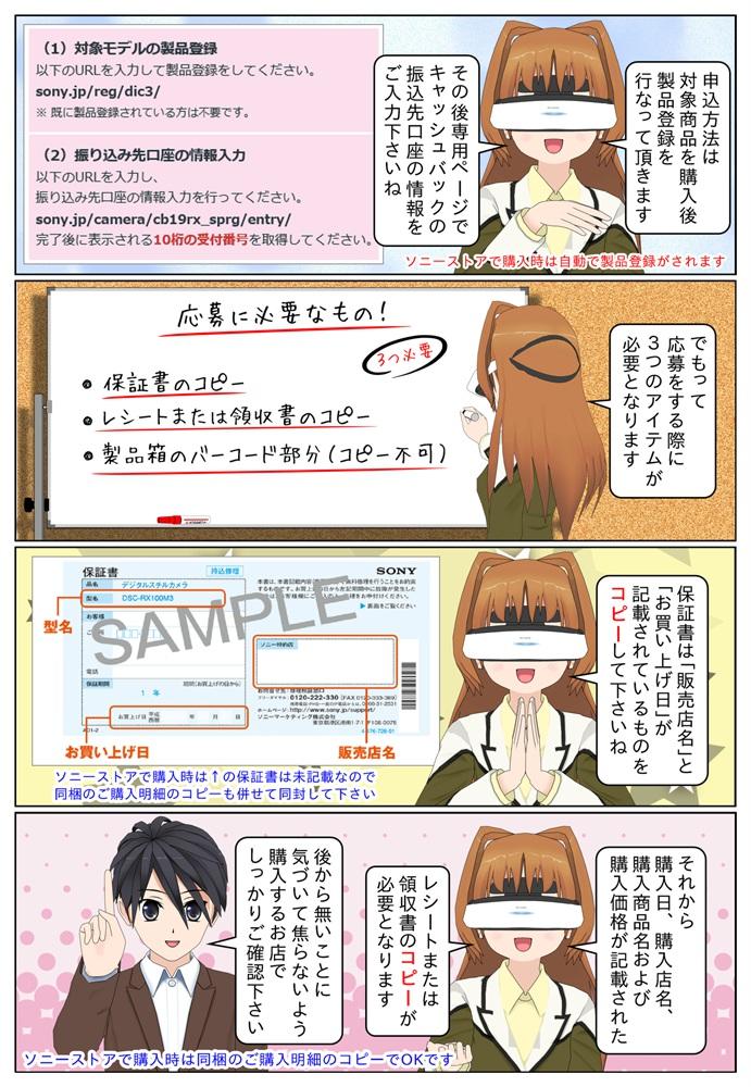 サイバーショット DSC-RX100M3、DSC-RX100M5A、DSC-RX100M6を購入で5,000円のキャッシュバック