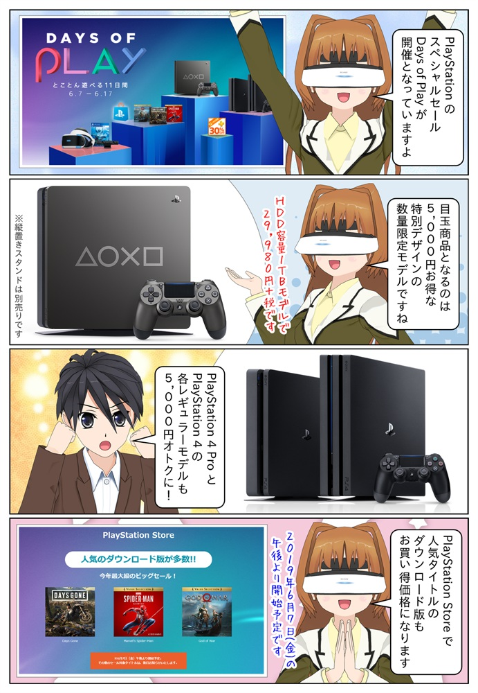 PlayStation スペシャルセール Days of Playが6月8日から6月18日まで開催