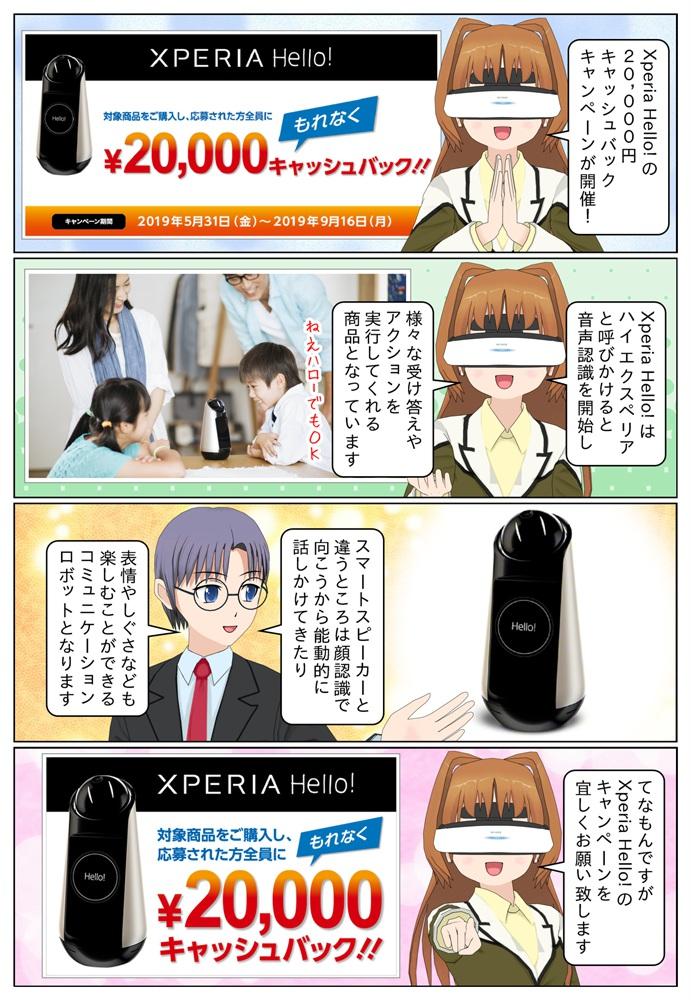 ソニーの Xperia Hello! G1209 を購入で、もれなく2万円のキャッシュバック