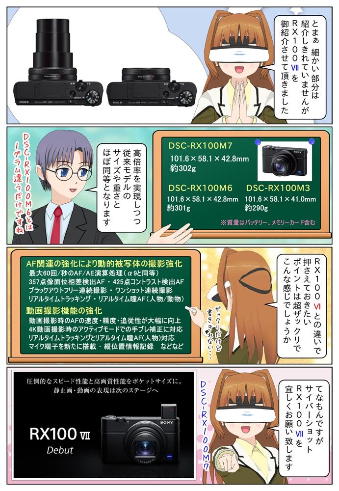 ソニーのDSC-RX100M7とDSC-RX100M6の違いや進化点をざっくり御紹介