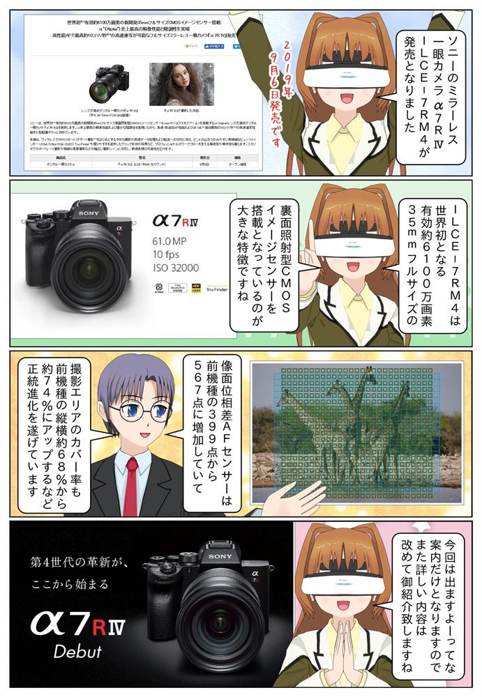 ソニーがフルサイズミラーレス一眼カメラ 『α7R IV』ILCE-7RM4 を発売