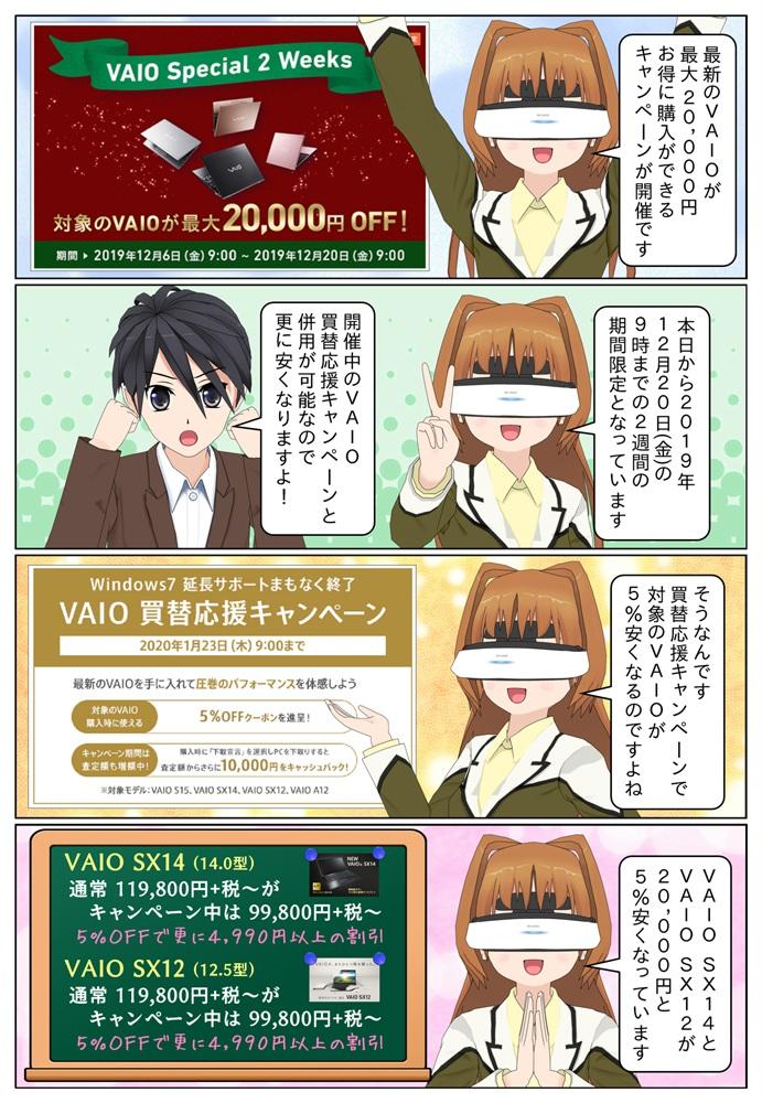 最新のVAIOが最大20,000円安く購入することができる VAIO Special 2 Weeks キャンペーンが開催