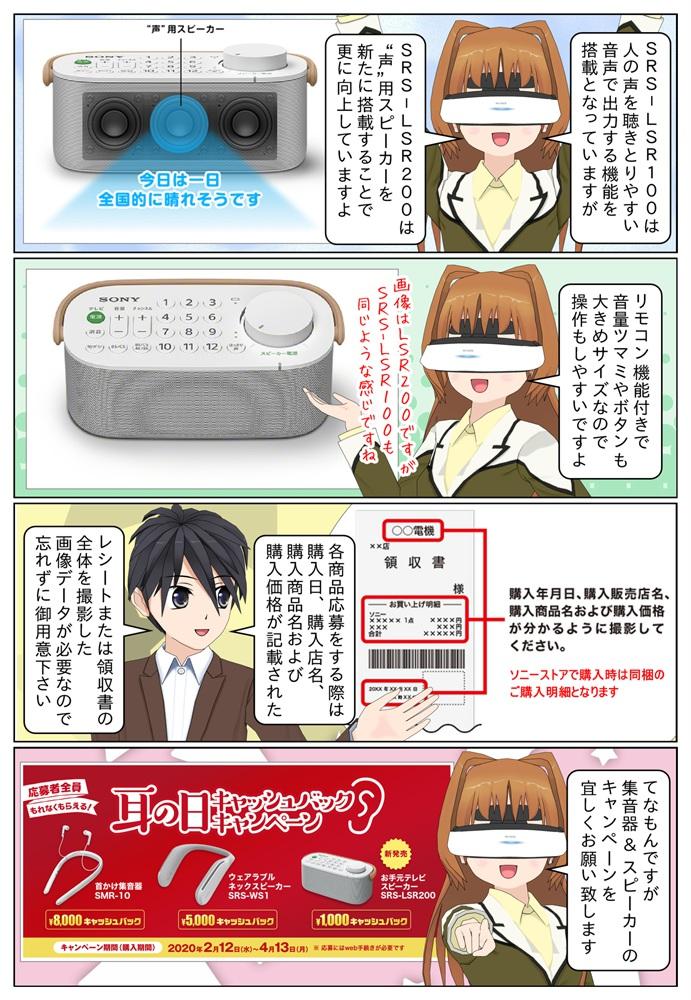 ソニーのお手元テレビスピーカー SRS-LSR200かSRS-LSR100は1,000円のキャッシュバック