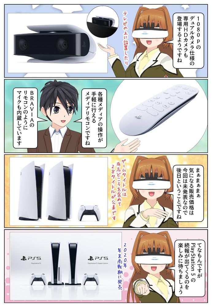 PS5専用のワイヤレスヘッドセット、HDカメラ、メディアリモコンなどの周辺機器も公開