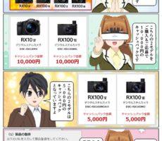 ソニー サイバーショット プレミアムフォトキャンペーンで最大1万円のキャッシュバック