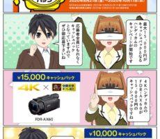 ソニー 4Kハンディカムがキャンペーンで最大1万5千円のキャッシュバック