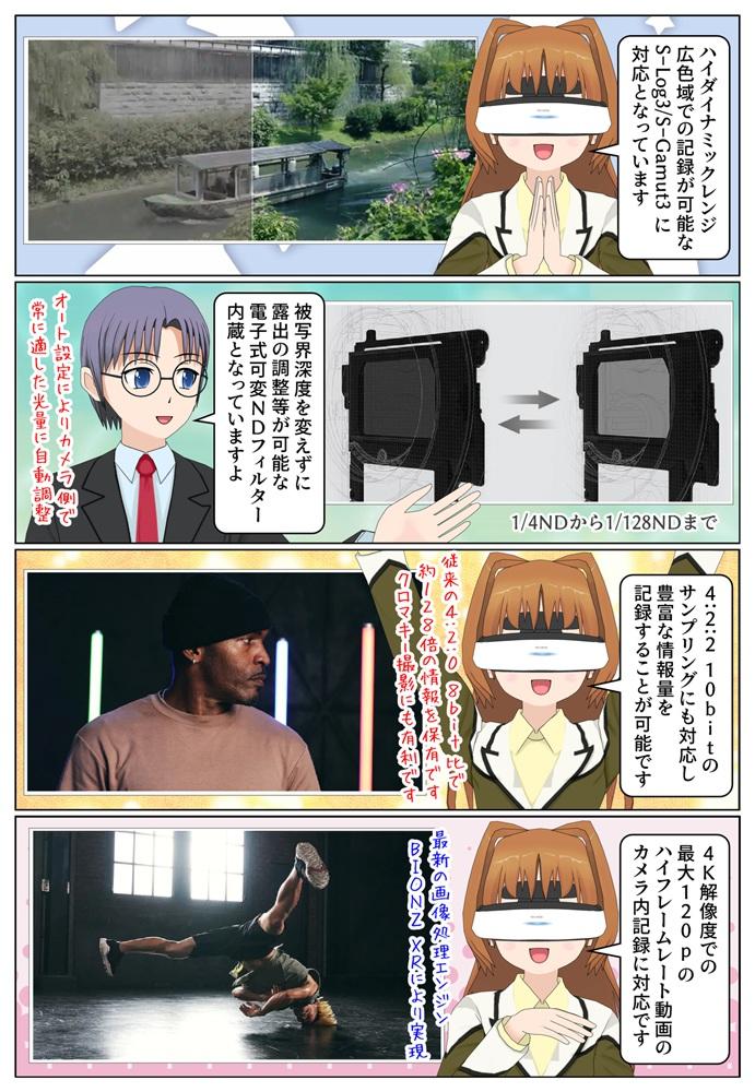 Sony CinemaLineカメラ 『FX6』ILME-FX6VK / ILME-FX6V は電子式可変NDフィルターを内蔵