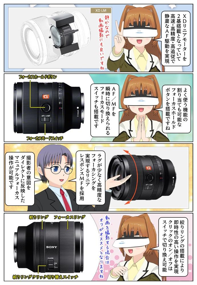 ソニー FE 35mm F1.4 GM(SEL35F14GM)は2基のXDリニアモーターを搭載、動画撮影用にもオススメです
