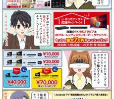 ソニーのテレビ BRAVIA と BDレコーダーやサウンドバーをセット購入で最大7万円のキャッシュバック