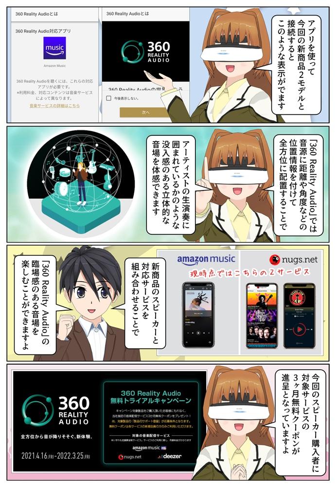 ソニー SRS-RA5000 と SRS-RA3000 は 360 Reality Audio 認定スピーカー。3ヶ月無料クーポン