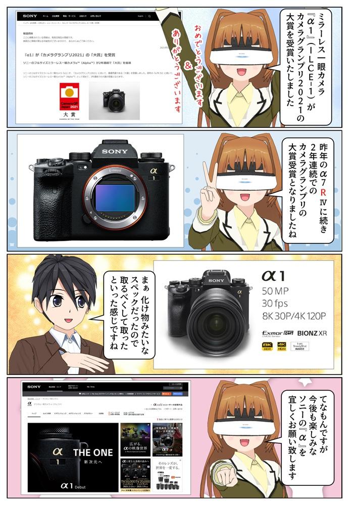 ソニーのミラーレス一眼カメラ α1(ILCE-1)がカメラグランプリ2021 の大賞を受賞