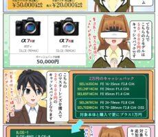 ソニーのミラーレス一眼カメラやレンズが最大5万円のキャッシュバック